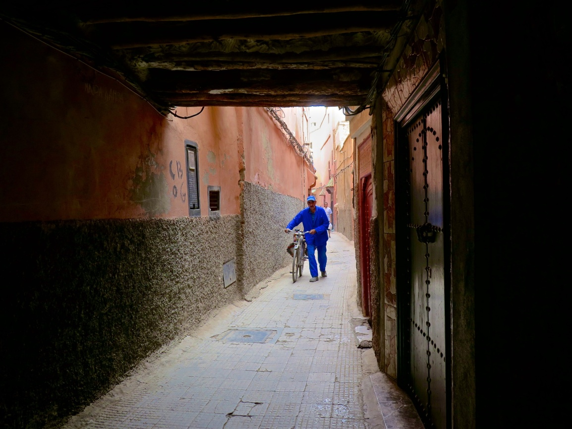 in the streets of morocco